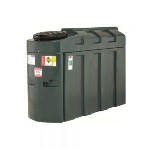 1000HQi, 1,000 Litre bunded Slimline Oil Tank, Harlequin, Plastic Domestic or Commercial Oil Storage 1000ITE